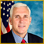 close-up of Mike Pence